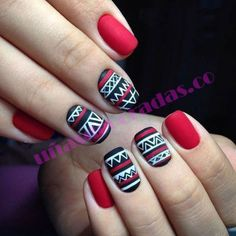 Nail art with matte nails. End your nail polish with a matte lacquer. Christmas Nail Art Designs, Christmas Nails, Red Christmas, Simple Christmas, Gorgeous Nails, Pretty Nails, Nail Art Vernis, Nagellack Design, Nagel Hacks