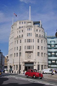 Broadcasting House, West End.    The BBC's distinctive headquarters, Broadcasting House, was opened in 1932. The building recently underwent a huge (if controversial) extension that quadrupled the corporation's space.  Picture: Alamy