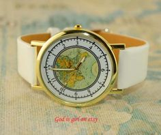 Multicolor optional world map digital casual watch by Godisgirl, $3.99