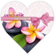 Herzgutschein KS450 für Massage und Wellness. Ein Herz für Valentinstag, oder einfach aus Liebe!