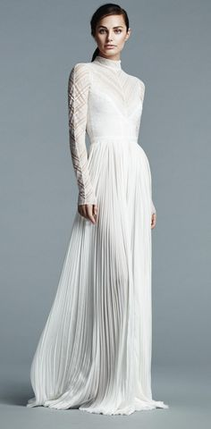 J. Mendel Spring 2017 | https://www.theknot.com/content/j-mendel-wedding-dresses-bridal-fashion-week-spring-2017