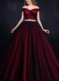 Prinzessin Ballkleid Schwarz Rot