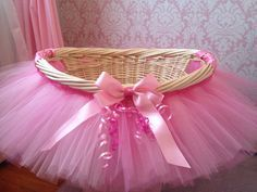 Love this idea for a gift basket to fill with presents when asking our flower girl to share our special day with us!