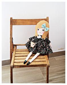 Muñecos - SIENNA, 50cm, muñeca de trapo. - hecho a mano por milipa en DaWanda