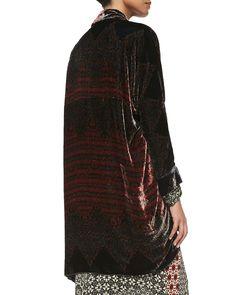 Morra Velvet Open Jacket, Women's