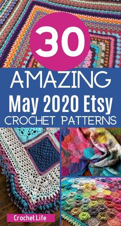 Don't miss the hottest crochet patterns on Etsy in May 2020! This list has tons of amazing patterns for crocheters of all levels! Check out the crochet blanket patterns, crochet amigurumi patterns, and even crochet necklace patterns on this list! #CrochetPatterns #BestCrochetPatterns #CrochetLife #Crocheting #EtsyCrochetPatterns #EasyCrochetPatterns #CrochetBlankets #CrochetNecklace #CrochetAmigurumi #AmigurumiPatterns Diy Crochet Projects, Diy Crochet Patterns, Amigurumi Patterns, Crochet Ideas, Crochet Food, Cute Crochet, Easy Crochet, Crochet Quilt, Crochet Blankets
