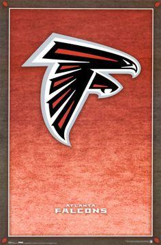 Atlanta Falcons Falcons Football, Football Fever, Auburn Football, Football Team, Falcons Gear, Football Posters, Falcons Rise Up, Poster Art, Minor League Baseball