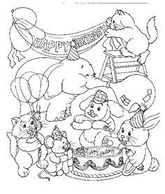 die 159 besten bilder von happy birthsday coloring   malvorlagen, geburtstag malvorlagen und