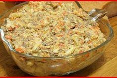"""Salată în straturi """"Troiene de zăpadă"""" - oaspeții vor fi curioși să guste din acest deliciu! - Bucatarul Potato Salad, Mashed Potatoes, Macaroni And Cheese, Cooking Recipes, Ethnic Recipes, Food, Salads, Diet, Food And Drinks"""