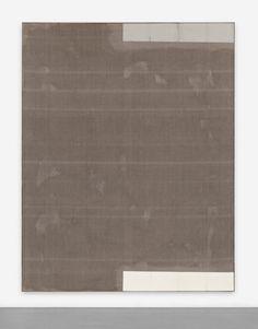 DAVID OSTROWSKI F (Still in Love), 2014 Primer and paper on linen, wood, 241 x 191 cm