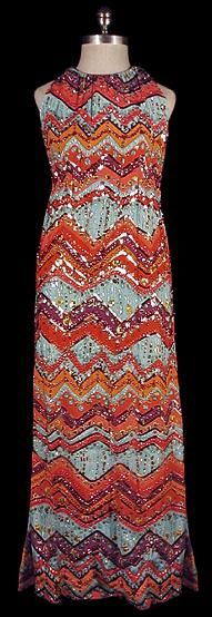 Norman Norell Beaded Dress