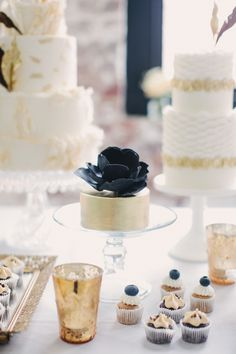 cake - how about a mini cake on each guest table, add table number on a stick on top!?   #sparklingeverafter
