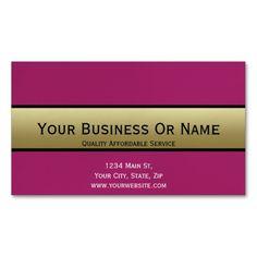 Elegant Purple & Gold. Custom Name Business