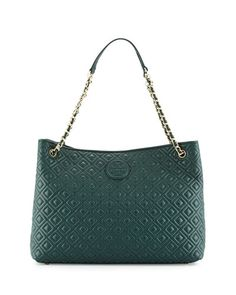 Marion Quilted Slouch Shoulder Bag, Jitney Green by Tory Burch at Neiman  Marcus. c198a3358a