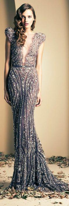 35d295fb5a4 Robe Dubai grise   argentée avec perles et strass Robe De Soiree Princesse