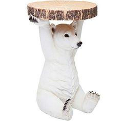 Mesa oso polar fabricada en polyresina. Este lindo oso sostiene tu mesa, ideal para el jardín. Harás también la felicidad de lo mas pequeños.