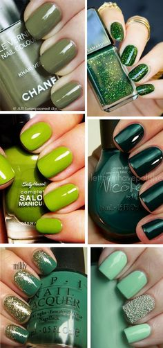 Unghie e smalti verdi - Green Nail Art