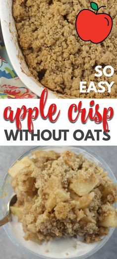 apple crisp easy & apple crisp _ apple crisp recipe _ apple crisp recipe with oats _ apple crisp easy _ apple crisp recipe easy _ apple crisp healthy _ apple crisp crockpot _ apple crisp cheesecake Best Apple Crisp Recipe, Easy Apple Crumble, Apple Crisp Easy, Apple Crisp Recipes, Easy Apple Desserts, Oats Recipes, Apple Crisp Without Oats, Apple Crisp Recipe Without Flour, Caramel Apple Crisp