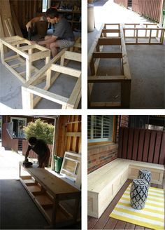 I want to learn to do simple DIY wood work like this, seriously!DIY: I want to learn to do simple DIY wood work like this, seriously! Furniture Projects, Wood Furniture, Home Projects, Outdoor Furniture, Diy Casa, Easy Diy, Simple Diy, Outdoor Seating, Outdoor Dining