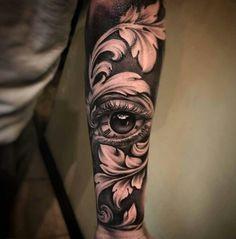 New black art tattoo ideas eyes 64 Ideas Forearm Tattoos, Body Art Tattoos, New Tattoos, Tattoos For Guys, Cool Tattoos, Baroque Tattoo, Filigree Tattoo, Tattoo Sleeve Designs, Sleeve Tattoos
