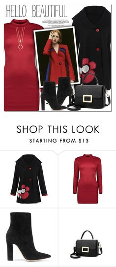 """""""Hello Beautiful"""" by oshint ❤ liked on Polyvore featuring Gianvito Rossi and Kate Spade"""