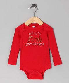 Look what I found on #zulily! Red 'First Christmas' Personalized Bodysuit - Infant by My Baby Bling #zulilyfinds