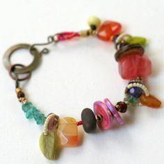 threetrees jewelry | Colorful Beaded Bracelet, Polymer Clay Jewelry, Gemstone Bracelet ...