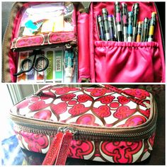 Re-purposing Makeup Travel Bags - Stationery Organization!