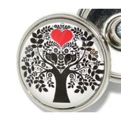 Snap Jewelry - Family Tree with Red Heart