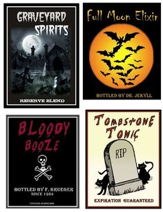 halloween wine bottle labels printable free | Centsational Girl » Blog Archive » Ghoulish Grown Up Beverage Labels