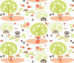 © Heleen van Buul 2013 See the Baby Woodland collection for a variety of co-ordinating designs.