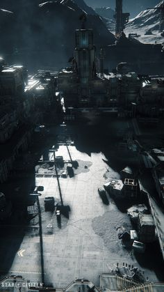 The exterior of Levski was built together with Stephan Dammrau, with occasional support by other members of the PU art team, and Ben Dare handling the level design side of things. Sci Fi Environment, Star Citizen, Dares, The Outsiders, Exterior, Artwork, Work Of Art, Auguste Rodin Artwork, Artworks