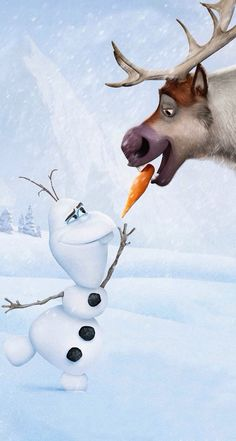 Disney Frozen Olaf and Sven Disney Olaf, Walt Disney, Disney Pixar, Animation Disney, Cute Disney, Disney And Dreamworks, Disney Magic, Disney Art, Disney Movies