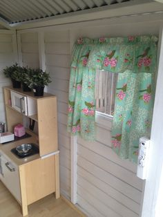 Curtains in my kids cubby house