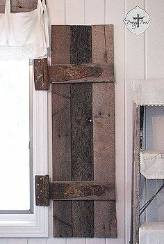diy barn wood shutters from pallets, carpentry woodworking, diy renovations projects, pallet projects, repurposing upcycling