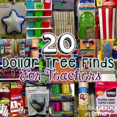 Tickled Pink in Primary: 20 Dollar Tree Finds For Teachers