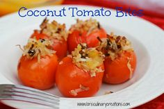 Coconut Tomato Bites on MyRecipeMagic.com