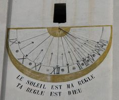 """Ayas Champoluc - Chiesa di Santa Anna - meridiana sul Campanile - Motto: """"Il Sole è la mia regola, il righello è Dio"""" Santa Anna, Flat Earth, Space Time, Sundial, Panama, Clocks, Physics, Watches, Drawings"""