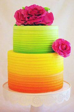 Super cute, neon cale idea   Brides
