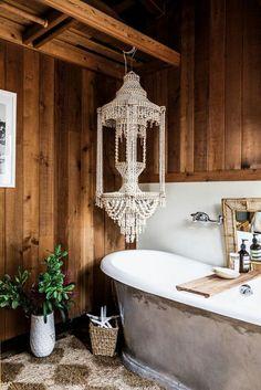 The Butcher's Daughter Owner on Mastering the Modern Boho Look Wood Bathroom Bathroom Plants, Diy Bathroom Decor, Bathroom Styling, Modern Bathroom, Bathroom Ideas, Rustic Bathrooms, Bathroom Interior, Bathroom Green, Ikea Bathroom