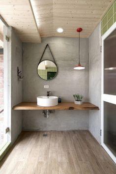 Curarto de baño de casa angosta