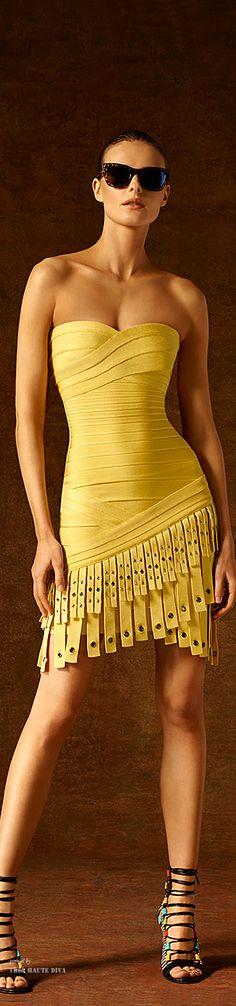 Hervé Léger by Max Azria Pre-Fall 2015 Fashion Show Max Azria, Look Fashion, High Fashion, Fashion Show, Womens Fashion, Fashion Design, Fashion Clothes, Street Fashion, Fashion Beauty