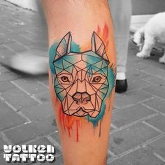 I love the geometric.. but it would have to be his exact face, not a random Pitty.