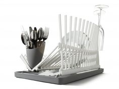 A contemporary and highly functional dishrack inspired by architecture. by Black + Blum