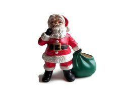 Vintage Holland Mold Santa w Sack Candy Dish Vinatge by YellowMod