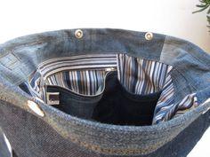 Cool jeans bag cat III denim bag upcycled bag shoulder bag   Etsy Recycle Jeans, Upcycle, Denim Shoulder Bags, Denim Bag, Jeans Pants, Bag Making, Cross Body, Cool Stuff, Cats