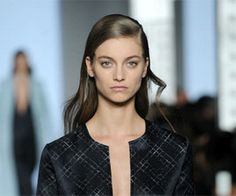 Sweet sophisticated makeup at Wes Gordon's Fall 2014 collection