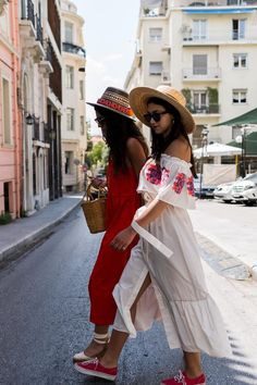 Vans Girls, Kurtis, Panama Hat, Off The Shoulder, Red, Clothes, Dresses, Style, Fashion
