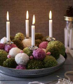 Yarn balls.....green looks like moss