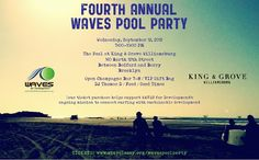 Waves for Development Brooklyn Pool Party!!